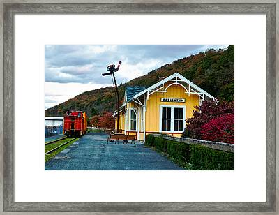 Old Railway Depot Framed Print