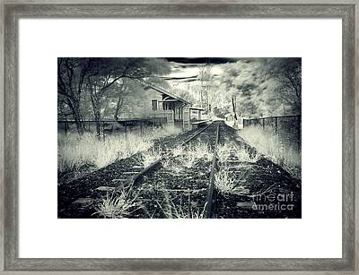 Old Railway Station  Framed Print by Gwenda  Harvey