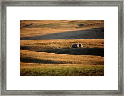 Old Ranch Buildings In Alberta Framed Print