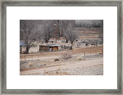 Old Ranch House Framed Print by Rob Hans