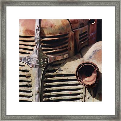 Old Ranch Truck Framed Print by Art Block Collections