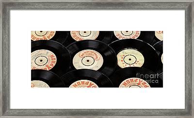 Old Records Mug Framed Print