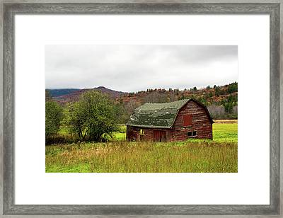 Old Red Adirondack Barn Framed Print