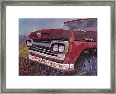 Framed Print featuring the painting Old Red by Arlene Crafton