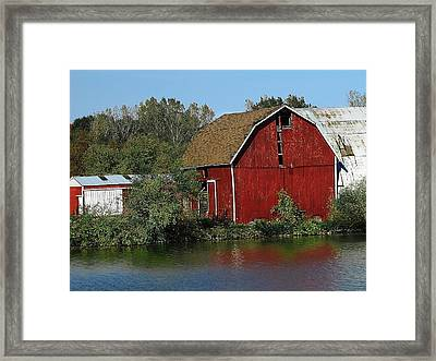 Old Red Barn Framed Print by Scott Hovind