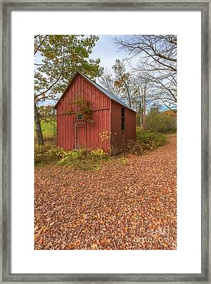 Old Red Barn Woodstock Vermont Framed Print by Edward Fielding