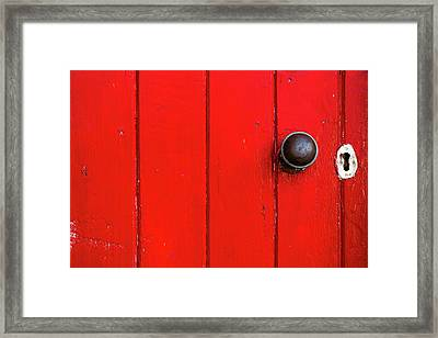 Old Red Door  Framed Print