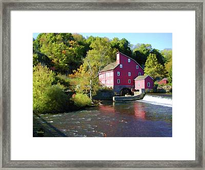 Old Red Mill Framed Print by Doug Vance
