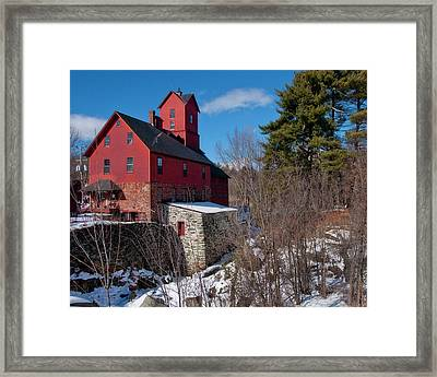 Framed Print featuring the photograph Old Red Mill - Jericho, Vt. by Joann Vitali