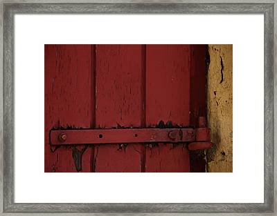 Old Red Old Yellow Framed Print by Odd Jeppesen