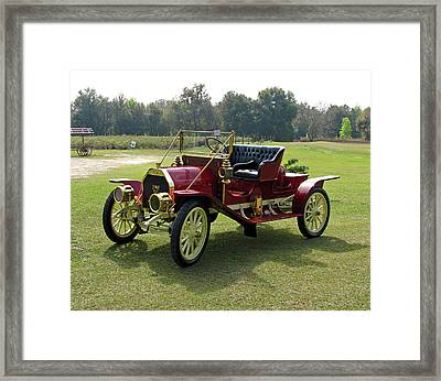 Old Red Framed Print by Peg Urban