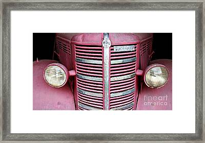 Framed Print featuring the photograph Old Red by Stephen Mitchell