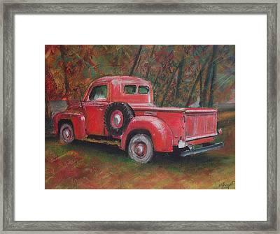 Old Red Framed Print by Victoria Heryet