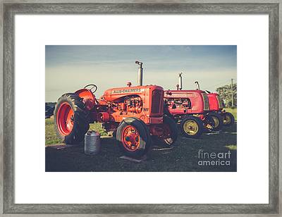 Old Red Vintage Tractors Prince Edward Island  Framed Print by Edward Fielding