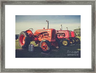 Old Red Vintage Tractors Prince Edward Island  Framed Print