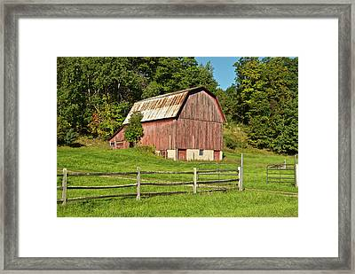 Old Red_9374 Framed Print by Michael Peychich