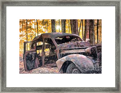 Old Relic In The Woods Framed Print