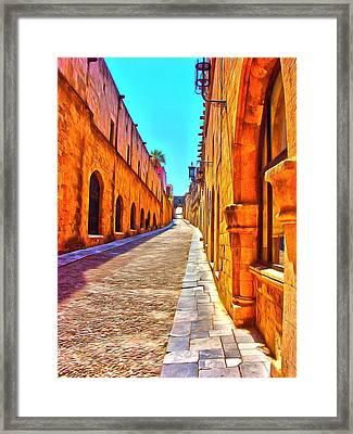 Old Rhodes Town Greece Framed Print