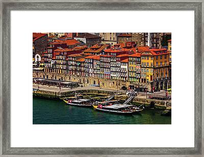 Old Ribeira Porto  Framed Print by Carol Japp