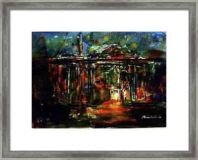 Old Rice Mill In The Nighttime Framed Print
