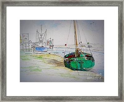 Old River Thames Fishing Boat Framed Print