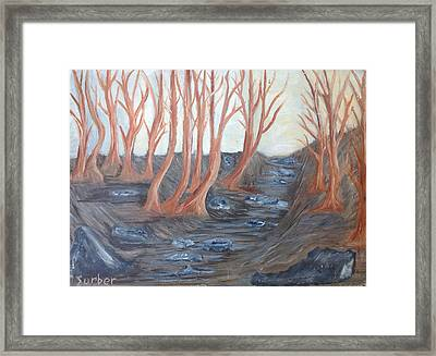 Old Road Through The Trees Framed Print