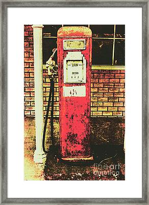 Old Roadhouse Gas Station Framed Print
