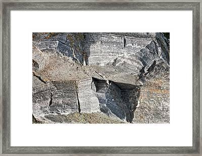Old Rock Background Framed Print