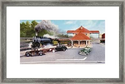 Old Rock Hill Depot   Sold Framed Print