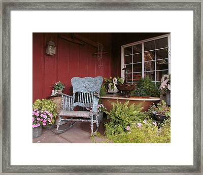 Framed Print featuring the photograph Old Rockin' Chair by Susan Rissi Tregoning