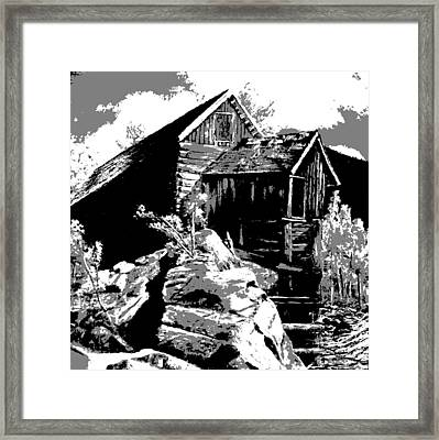 Old Rocky Mill Framed Print