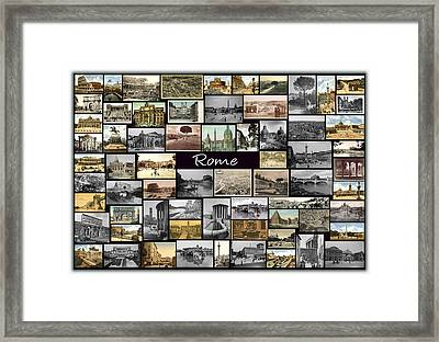 Old Rome Collage Framed Print by Janos Kovac