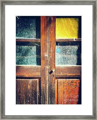 Framed Print featuring the photograph Old Rotten Door by Silvia Ganora