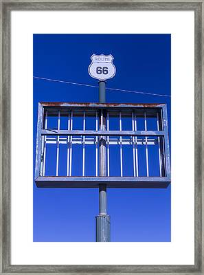 Old Route 66 Decaying Sign Framed Print by Garry Gay