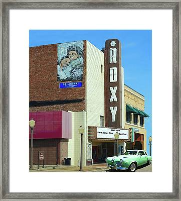 Old Roxy Theater In Muskogee, Oklahoma Framed Print