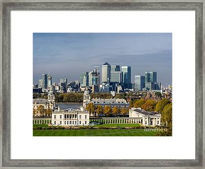 Old Royal Naval College In Greenwich Village, London Framed Print by Frank Bach