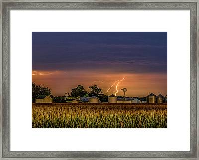Old Rte 66 Lightning Framed Print by Joe Kopp