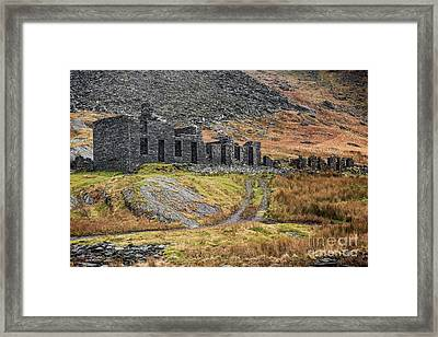 Old Ruin At Cwmorthin Framed Print by Adrian Evans