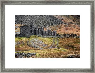 Old Ruin At Cwmorthin Framed Print