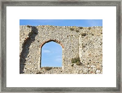 Old Ruins At Greyfriars Dunwich Uk Framed Print by Tom Gowanlock