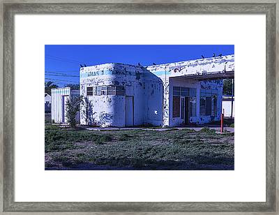 Old Run Down Gas Station Framed Print by Garry Gay