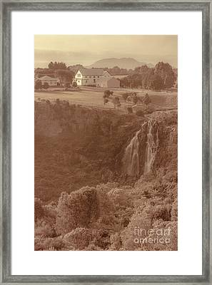 Old Rural Town Of Waratah In Tasmania Australia Framed Print
