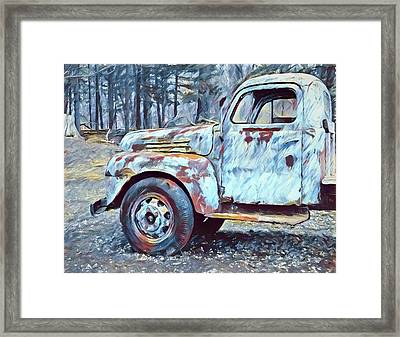 Old Rusted Truck Framed Print