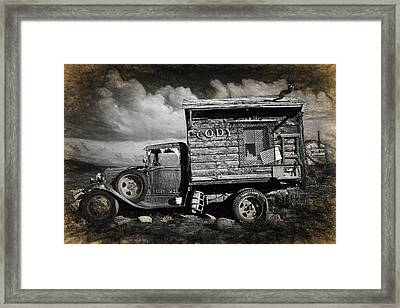 Old Rusted Truck From Cody Wyoming Framed Print by Randall Nyhof