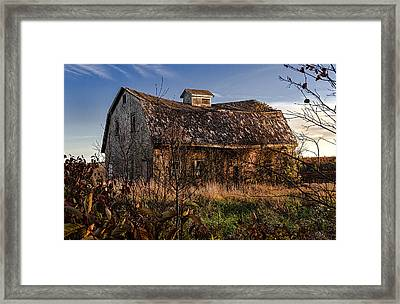 Old Rustic Barn Framed Print by Marty Saccone