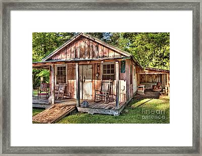 Framed Print featuring the photograph Old Rustic House In The Mountains by Dan Carmichael