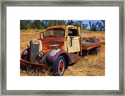 Old Rusting Flatbed Truck Framed Print by Garry Gay