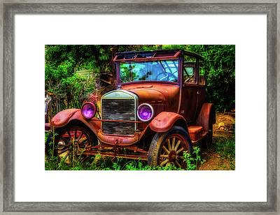 Old Rusting Ford Framed Print by Garry Gay