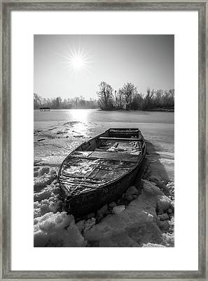Old Rusty Boat Framed Print by Davorin Mance
