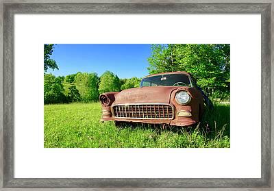 Old Rusty Car Framed Print